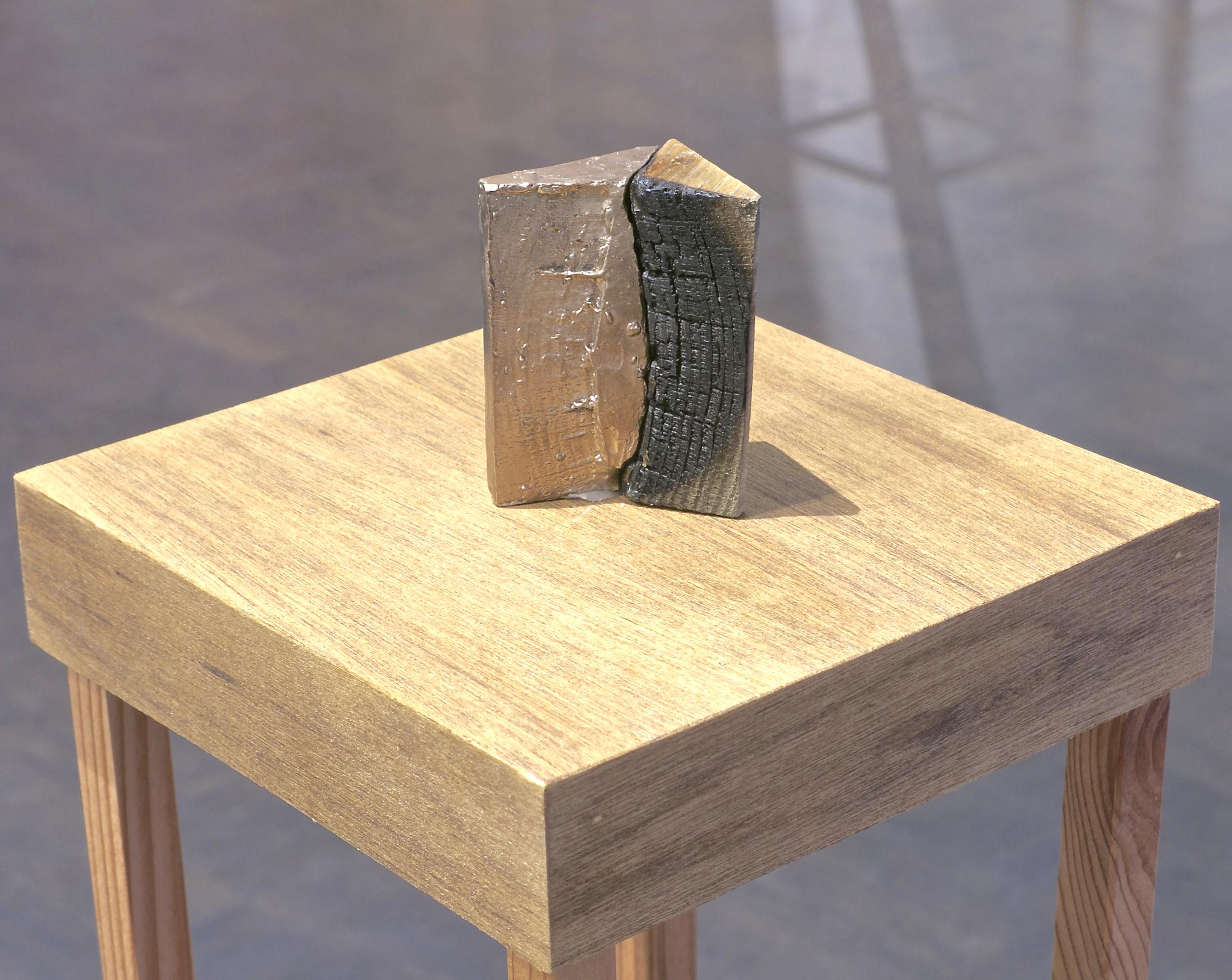 "Broken #4 | H. 2.5"" W. 2.5"" D. 1"" | Bronze and found object | Year 2014 | Photo: Mazdak Shadkam"