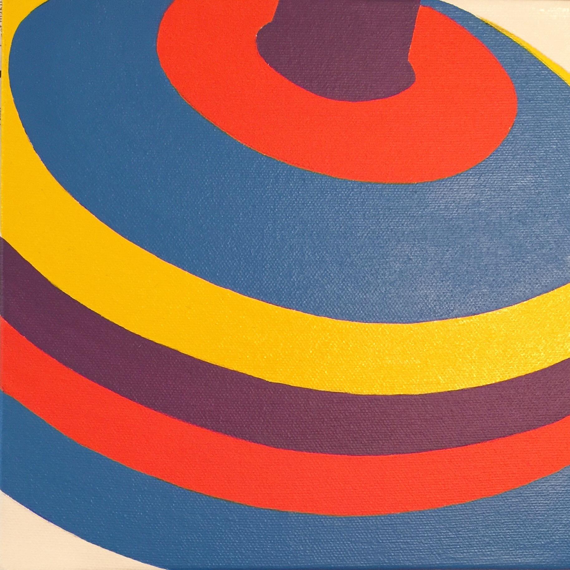 "Top #8 | H. 8"" W. 8"" | Acrylic on canvas | 2016"