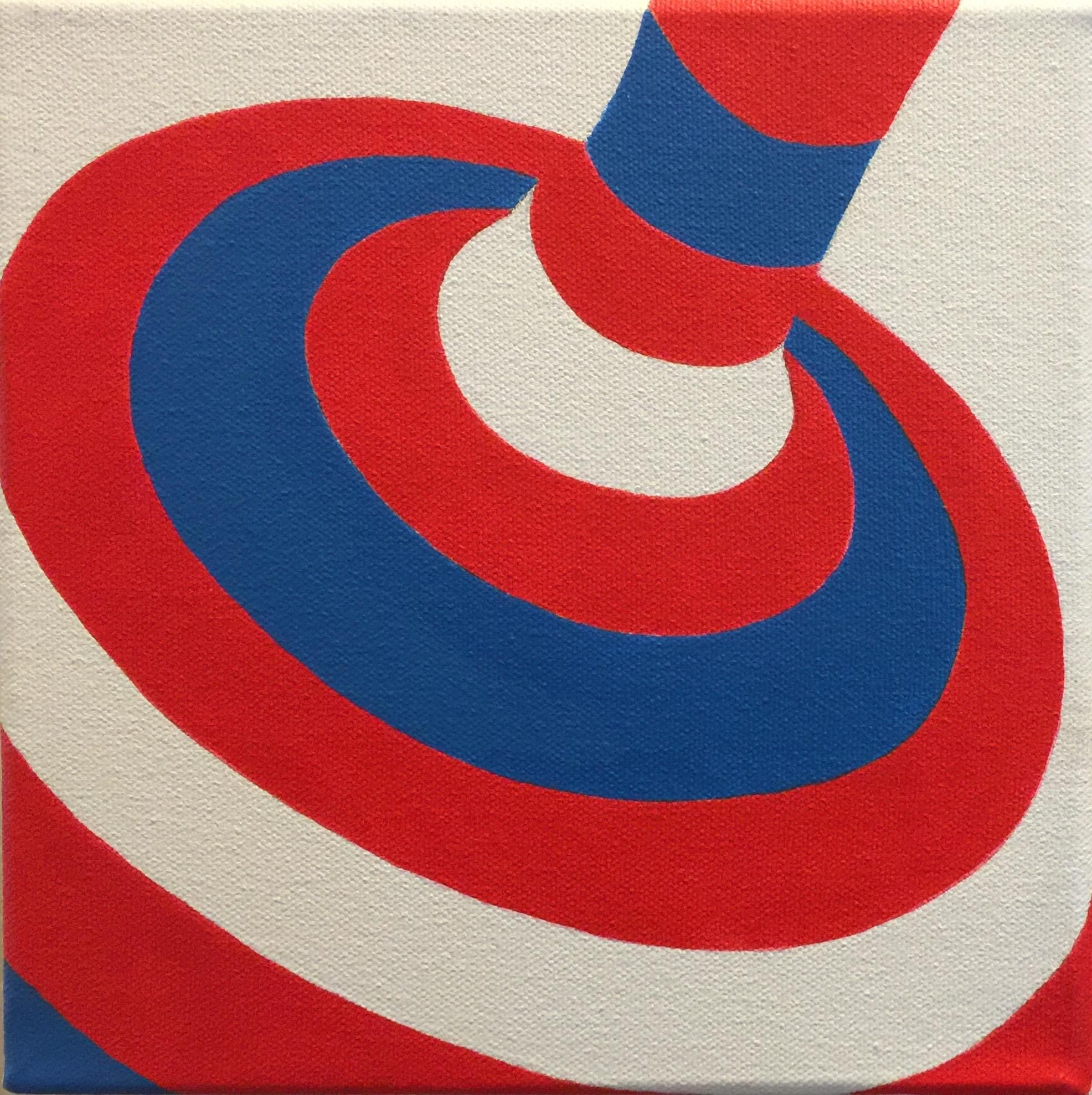 "Top #6 | H. 8"" W. 8"" | Acrylic on canvas | 2016"