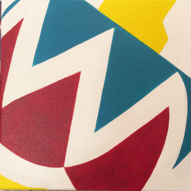 "Top #2 | H. 8"" W. 8"" | Acrylic on canvas | 2016"