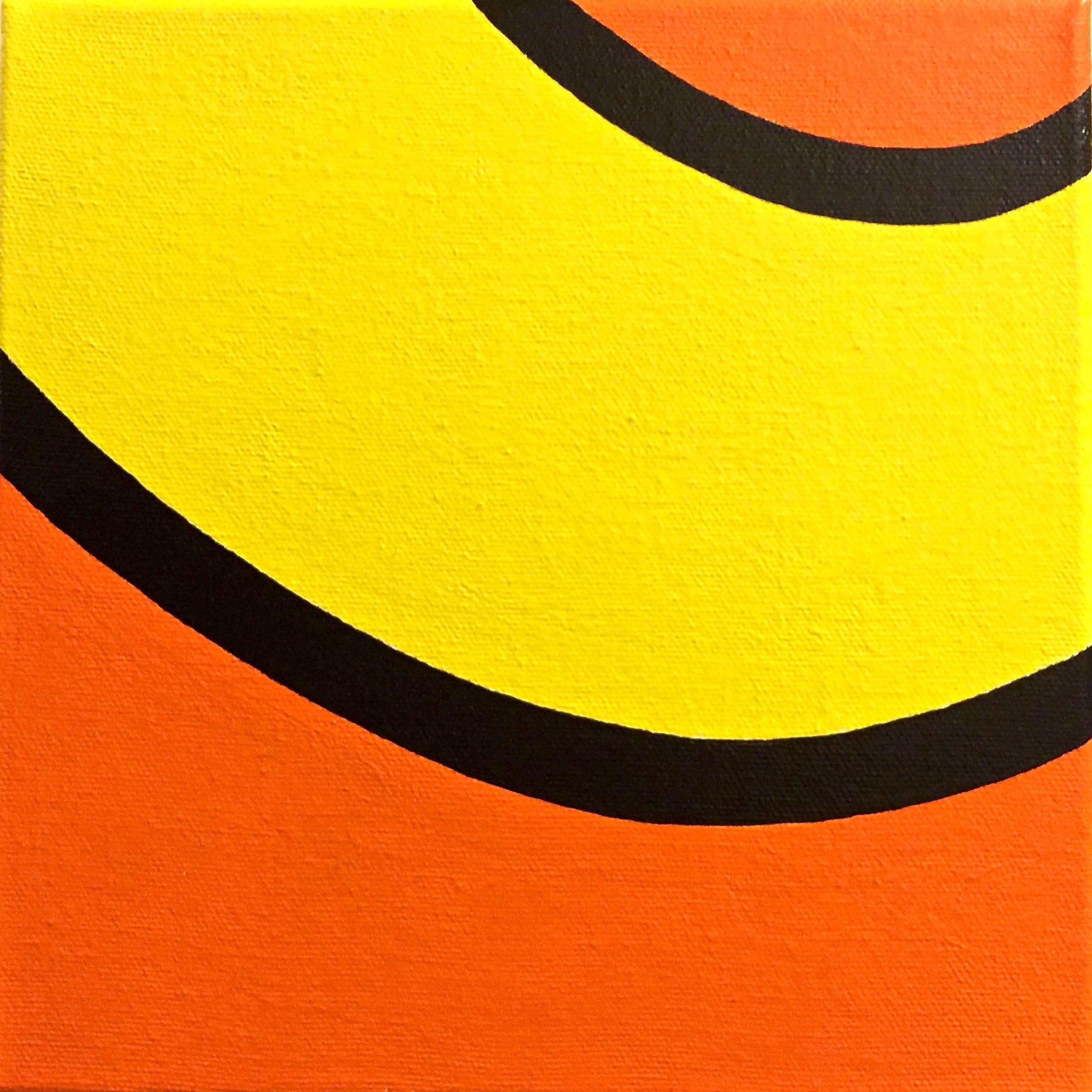 "Top #17 | H. 8"" W. 8"" | Acrylic on canvas | 2016"