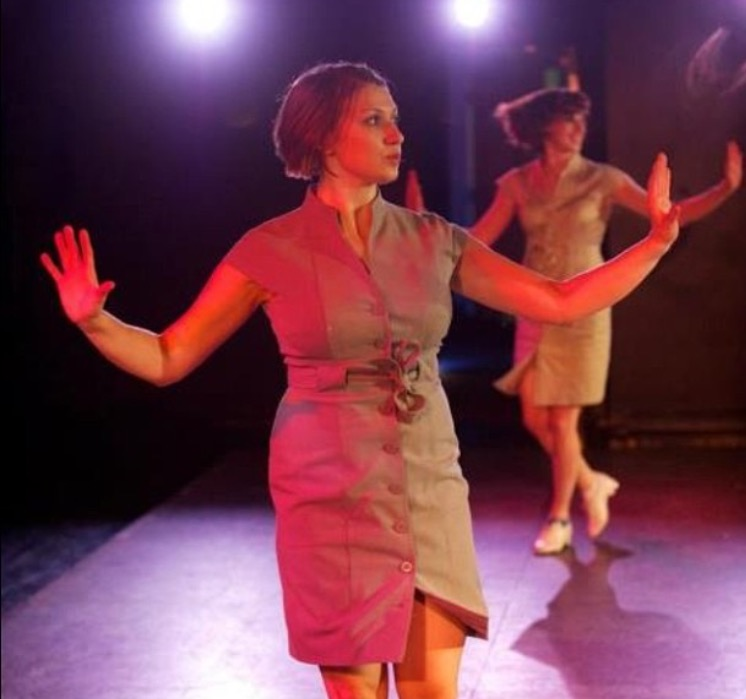 Dancers from left to right Annette Grefig and Molly Mingey in performance with D'Amato for a concert with Danceworks on Tap in Milwaukee