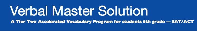 FFR's Verbal Master Solution