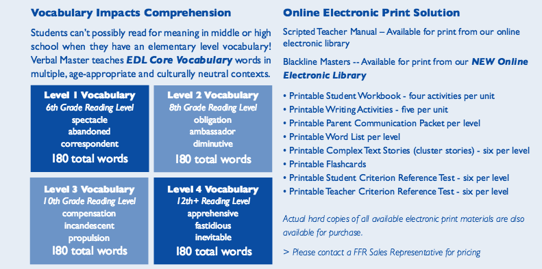 Vocabulary impacts comprehension