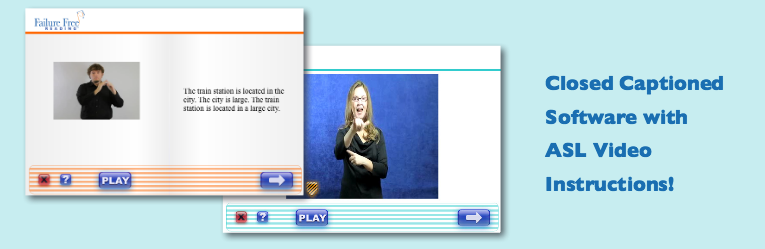 Closed Captioned Software with ASL Video Instruction