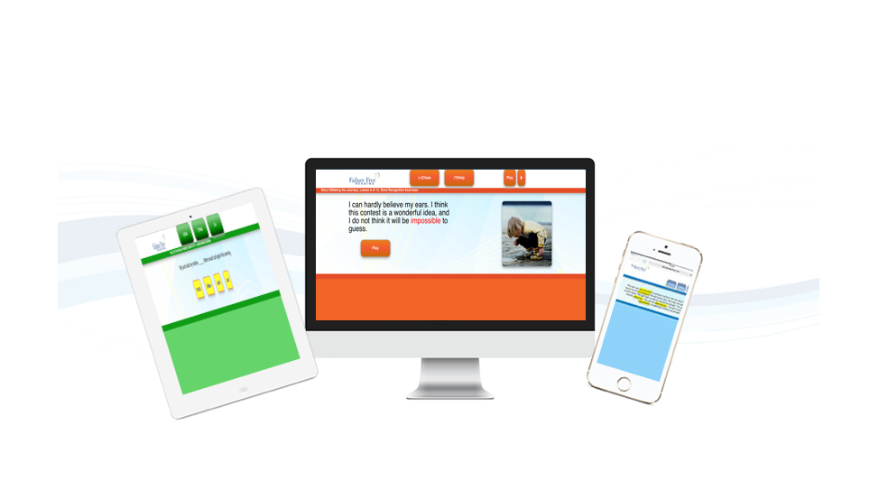 Failure Free Reading program can be used on desktops, tablets, and mobile devices