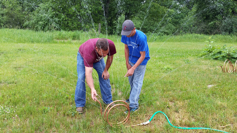 Participants in the Construction Trades group created garden sprinklers to take home.