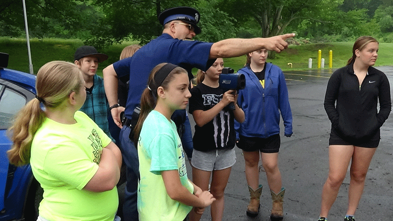 Criminal Justice students learned about traffic stops, crime scene investigation and evidence       gathering.
