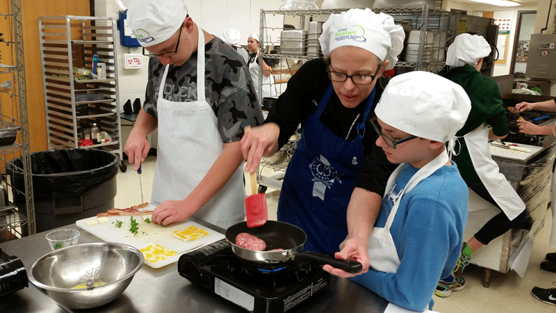 Food and kitchen safety were at the top of a long list of menu       items for students in the Culinary       Arts class. (They also did a fair amount of taste testing.)