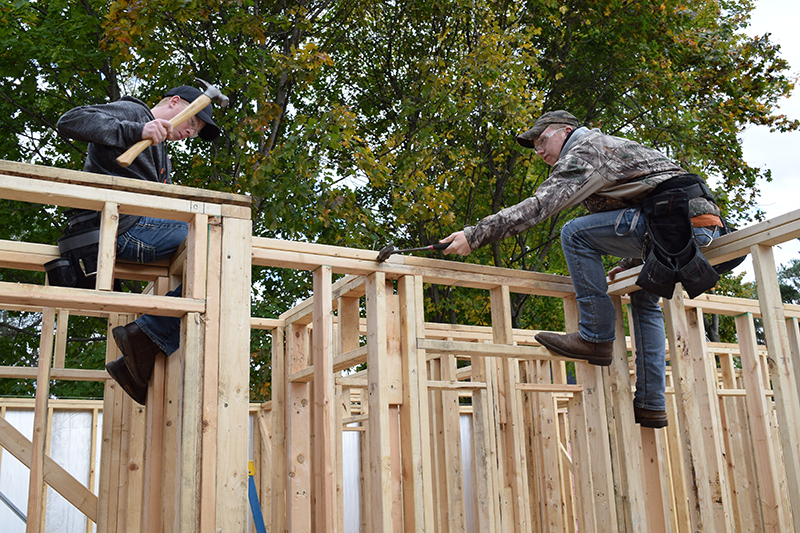 Construction Trades students are hard at work on their latest project in cooperation with the Gladwin County Land Bank Authority.