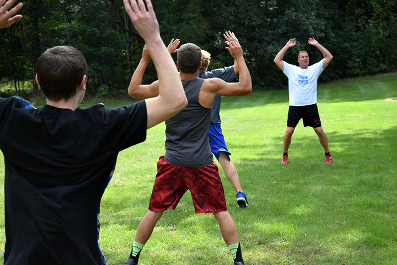 Physical Training is an important component for students in CTE's Criminal Justice program.