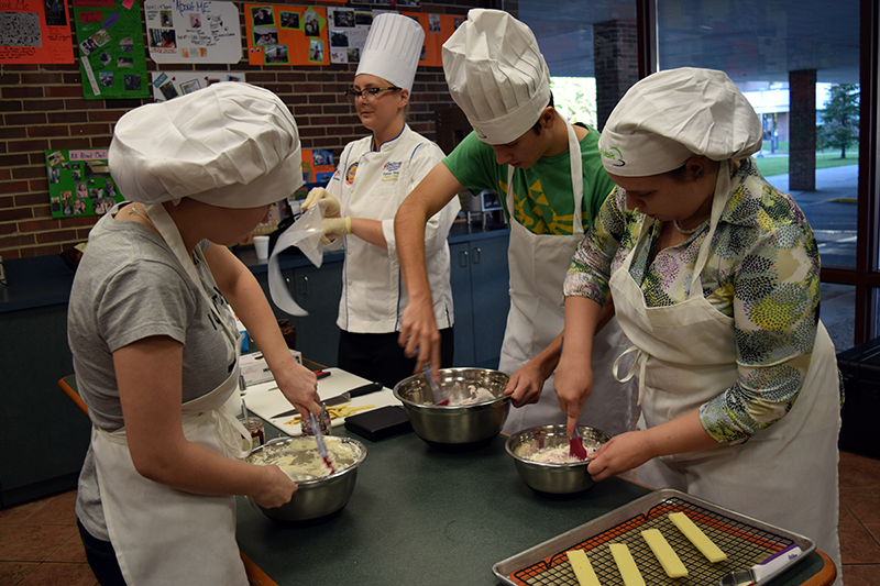 Beyond classroom work in the kitchen, Culinary Arts students are also busy with catering assignments.