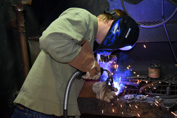 The grant monies awarded to CGRESD's CTE program will help ensure state-of-the-art training for students like Senior   Dylan Berlanga of Gladwin High School.