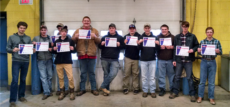 Auto Tech students learn in the classroom and the lab, can earn Automotive Service Excellence certification and attend the Detroit Auto Show.