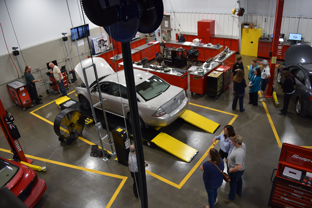 The 100-plus attendees at the open house got an inside look at all the new equipment and tools featured in the state-of-the-art lab.