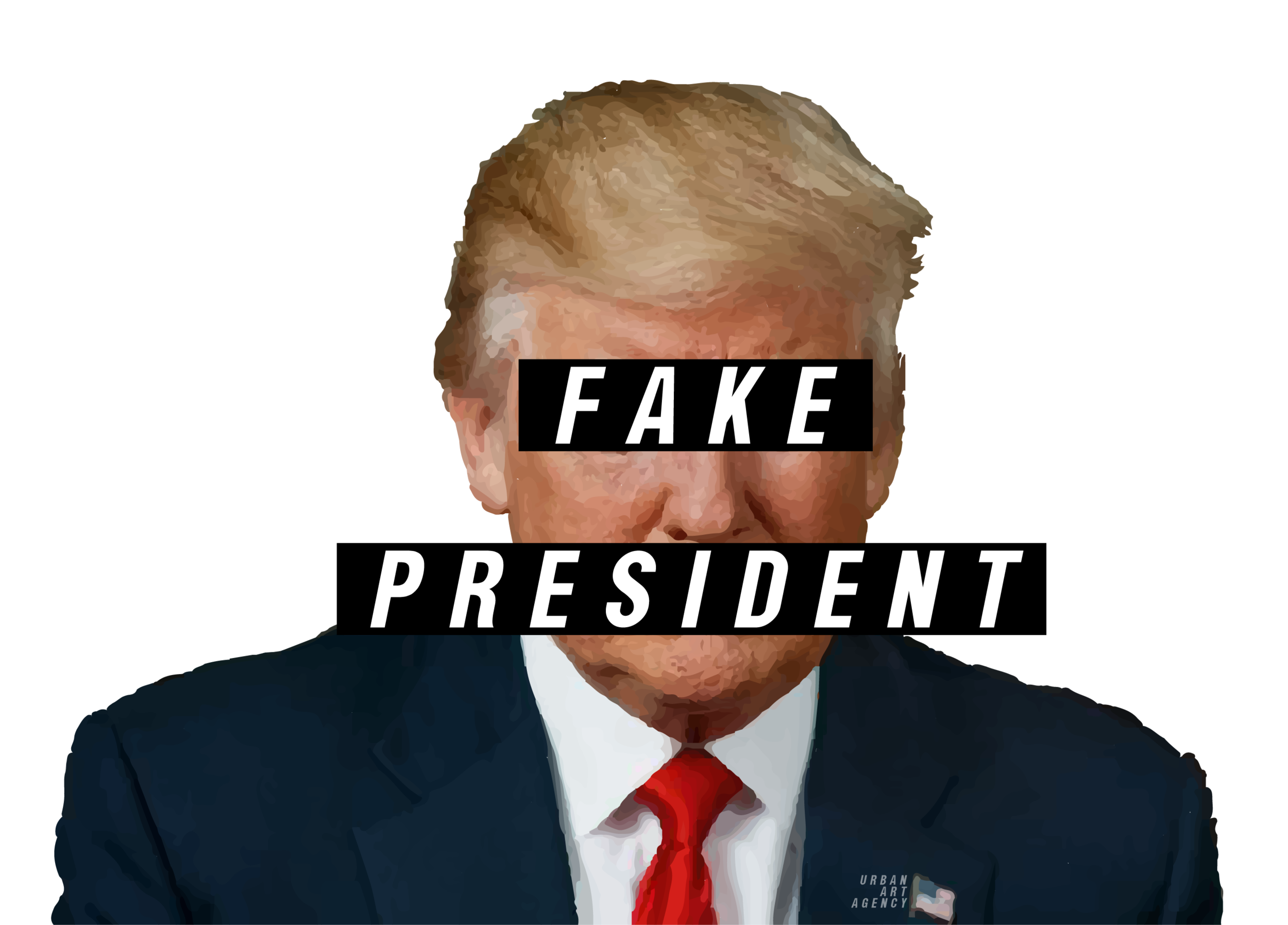 real news, fake president. stickers coming soon...