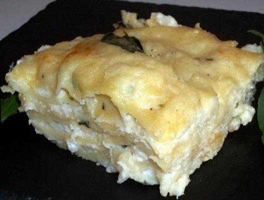 Lasagna 3 cheeses