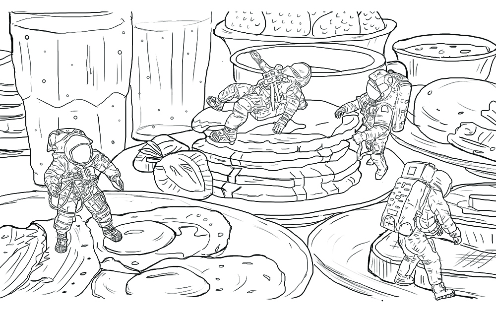 Breakfast on Mars | colouring book