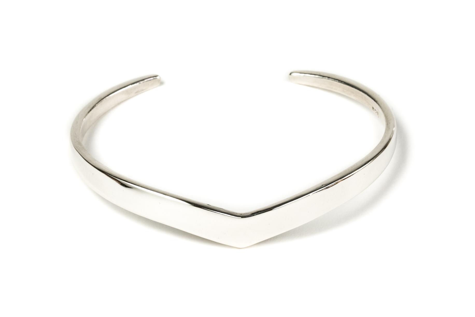 Peak Cuff Bracelet in Sterling Silver