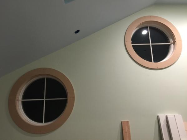 Circle Trim Installed.