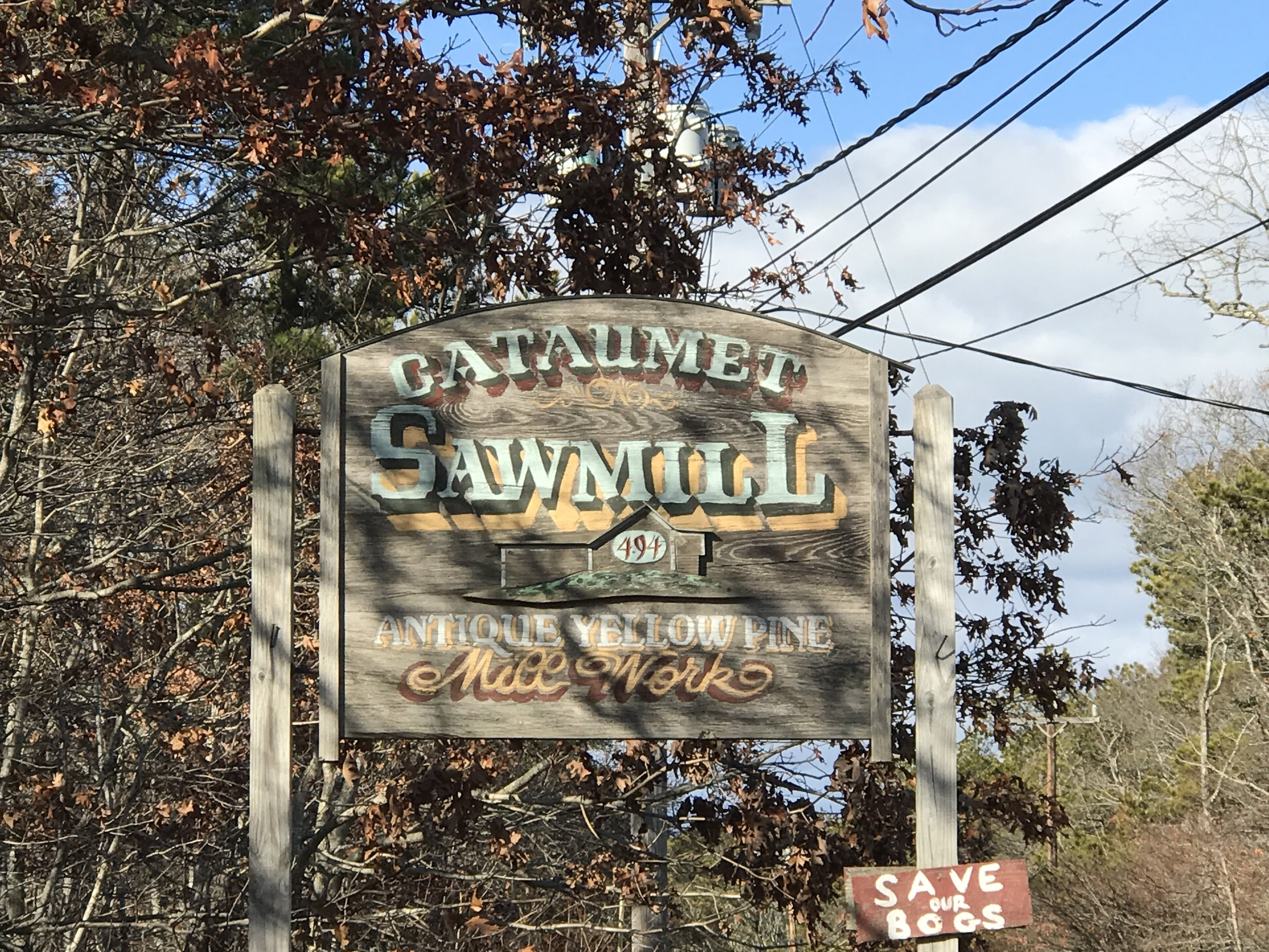 But first a trip to Cataumet Sawmill...