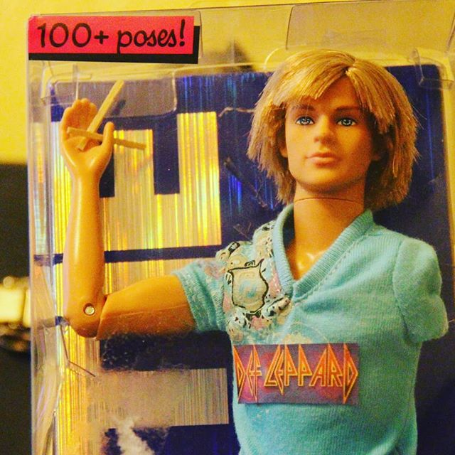I found a drummer from Def Leppard barbie! Come win it tonight at Uncalled Four. Tonight at Comedy Works 7pm. With contestants @negativenegro @nathanlundcomedy @drodsgotjokes and @mbhammock
