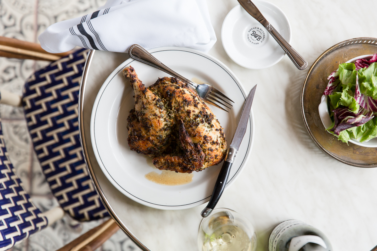 Bread and Butterfly's roasted chicken with créme fraîche and herbs.Photo courtesy of Bread and Butterfly. Photo by Amy Sinclair