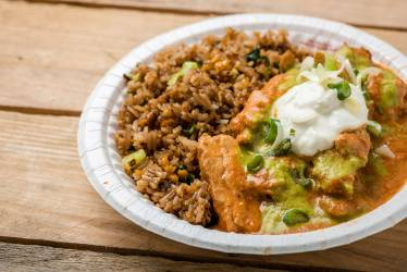 Chicken tikka masala, photo courtesy of Tomorrowland