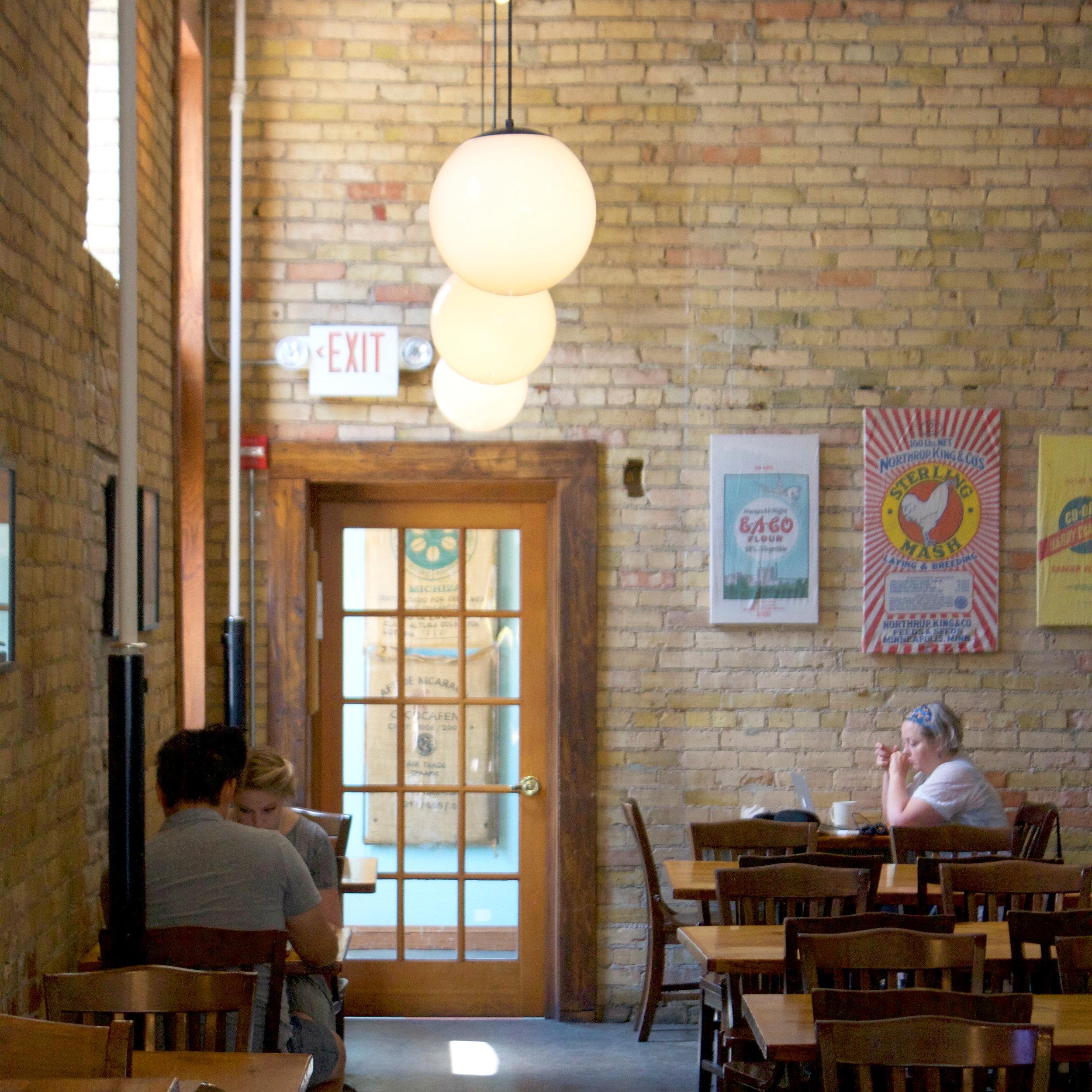 Inside Common Roots Café. Photo by Anne Lies