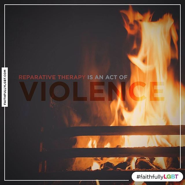 Reparative/Conversion therapy is an act of violence. You were #BornPerfect.