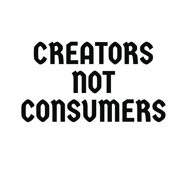 "| MANIFESTO | • • ""Creators, Not Consumers"" is one of the Tenants of our Practice • • Be Sure to check it out in our Cookbook • • The Inferno Cookbook is a guide to our practices and values which includes our manifesto and DIY exercises to engage youth in sound and collaborative media • • Download the Inferno Cookbook from the Inferno CPD website, the link is in the bio • • #InfernoCPD #ChicagoParks #InfernoDocTeam #mediamakers #art #digitalmedia #media #InfernoManifesto #summer #music #kids #ChicagoParkKids #children #summercamp #MyChiParks #Chicago"