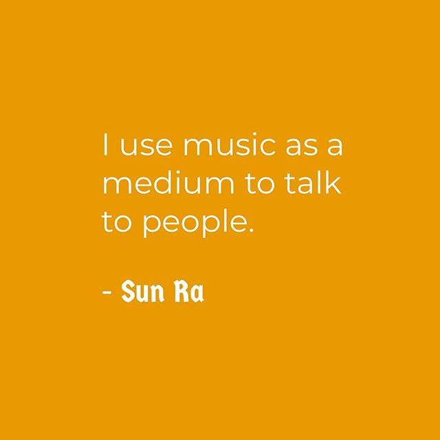 "| MUSIC SPEAKS VOLUMES | • • Quote by Sun Ra • • Sun Ra ( 1934-1993) was a Pioneer, an American jazz composer, bandleader, piano and synthesizer player, and poet known for his experimental music, ""cosmic"" philosophy, prolific output, and theatrical performances. For much of his career, Ra led ""The Arkestra"", an ensemble with an ever-changing name and flexible line-up • • #sunramusic #musician #afrofuturism #InfernoCPD #ChicagoParks #InfernoDocTeam #mediamakers #art #digitalmedia #media #InfernoManifesto #summer #music #kids #ChicagoParkKids #children #summercamp #MyChiParks #Chicago"