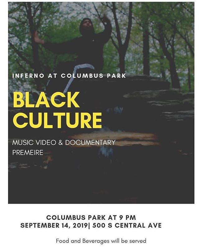"""Premiere of music video (""""Black Culture"""") written and filmed by Inferno's media team at Columbus Park, in addition to their mini-documentary about the converging (""""Reimaging"""") of 3 Chicago youth-driven theater groups creating in the parks (@aptpchicago @free_st_theater @kuumbalynx)! • Led and mentored by the great @middlenamejanae, screening outside, everyone is welcome. Come thru before 9pm, so you don't miss out! • Featured in the flyer is Adonis, who provided the title and the chorus for the song in the music video • #teenarts #columbuspark #teensinthepark #documentarypremiere #musicvideopremiere  #freeeventschicago #austinchicago #infernocpd @chicagoparks @chicagosmayor"""