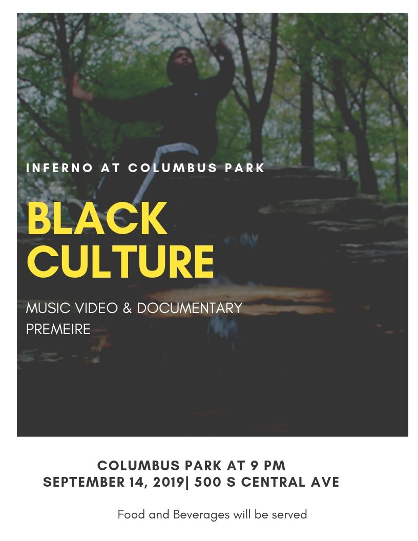 "Columbus Park: Teen Media Creators Premiere Saturday Sept 14,9:00 pm (map) - Our teen media creators at Columbus Park, mentored by artist AJ McClenon, will present both of their video projects from spring and summer outside on the big screen at 9pm sharp!•Music video: ""Black Culture"" (all music and video created by the team with AJ!)•Young documentarians project for the Year of Chicago Theater:""Reimagining"" — covers the first of three cross-city gatherings by teen theater groups (Kuumba Lynx, Albany Park Theater Project, and Free Street Theater) in Uptown during the Hip Hop Theater Fest, in June 2019. movement was led by Ayodele Drum & Dance.**Featured in the poster is Adonis, who provided the title and the chorus for the song in the music video"