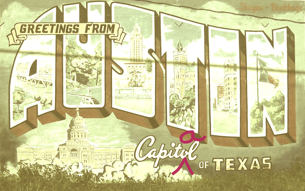 """Image based on a photo by Flicker user Philip Kromer;  CC licensed . No murals were harmed in the making of this image. """"Capitol"""" refers to the building where legislators come together. """"Capital"""" means the city that is the seat of government. Austin is the capital of Texas, and the capitol is located in the capital. But, NBD. I love you, mural. <3"""