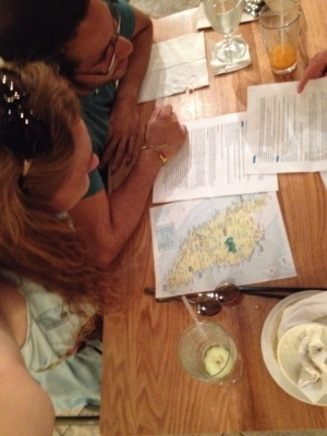 Planning our trip over dinner June of last year at  Mamak  in Orlando.
