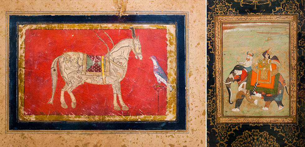16TH-18TH CENTURY PAINTINGS OF INDIA ART AT  THE ISLAMIC ARTS MUSEUM.