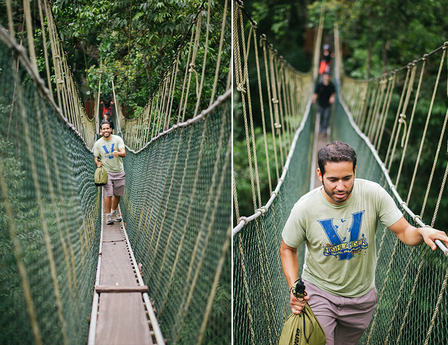 WE MADE A PIT STOP AT  TITIAN SILARA CANOPY WALKWAY  FOR A TREE TOP VIEW OF THE JUNGLE.