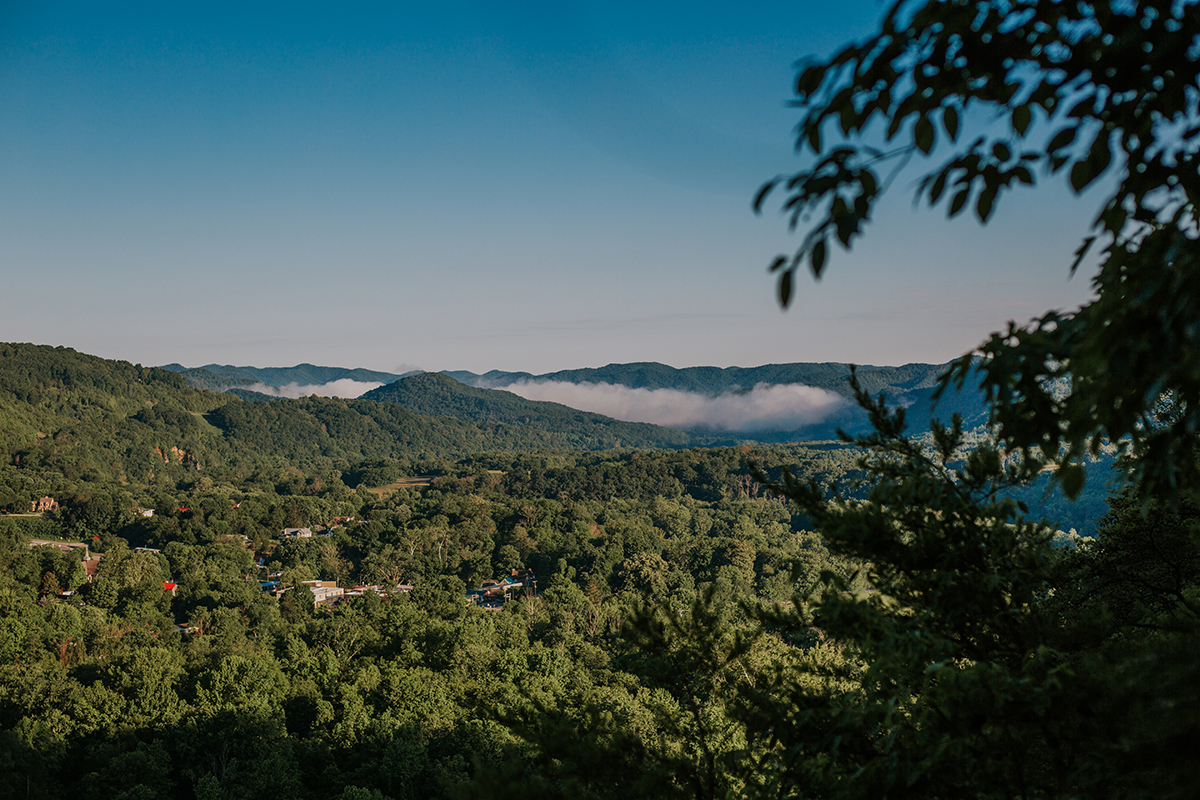 The view of Hot Springs NC from above.