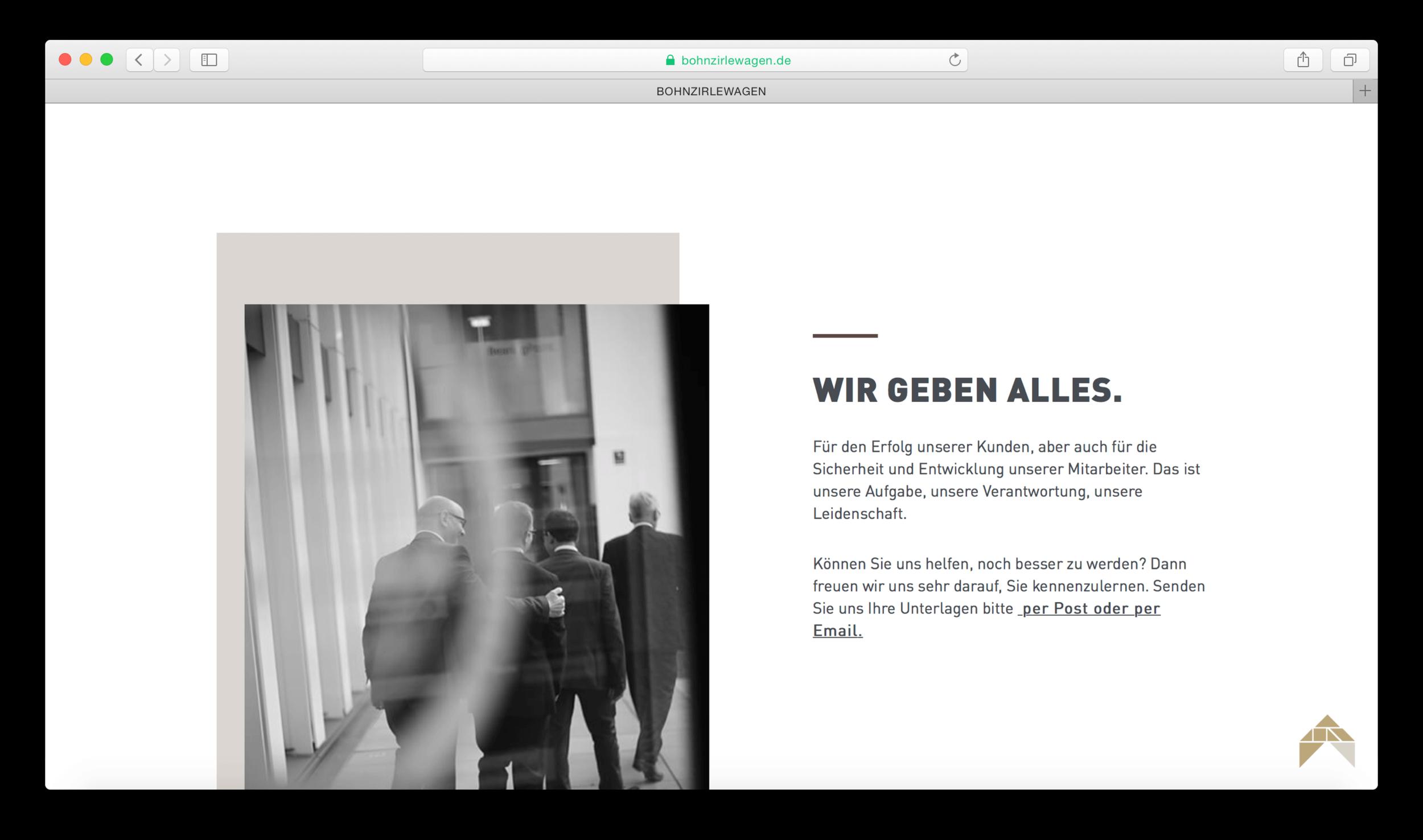 BOHNZIRLEWAGEN webseite