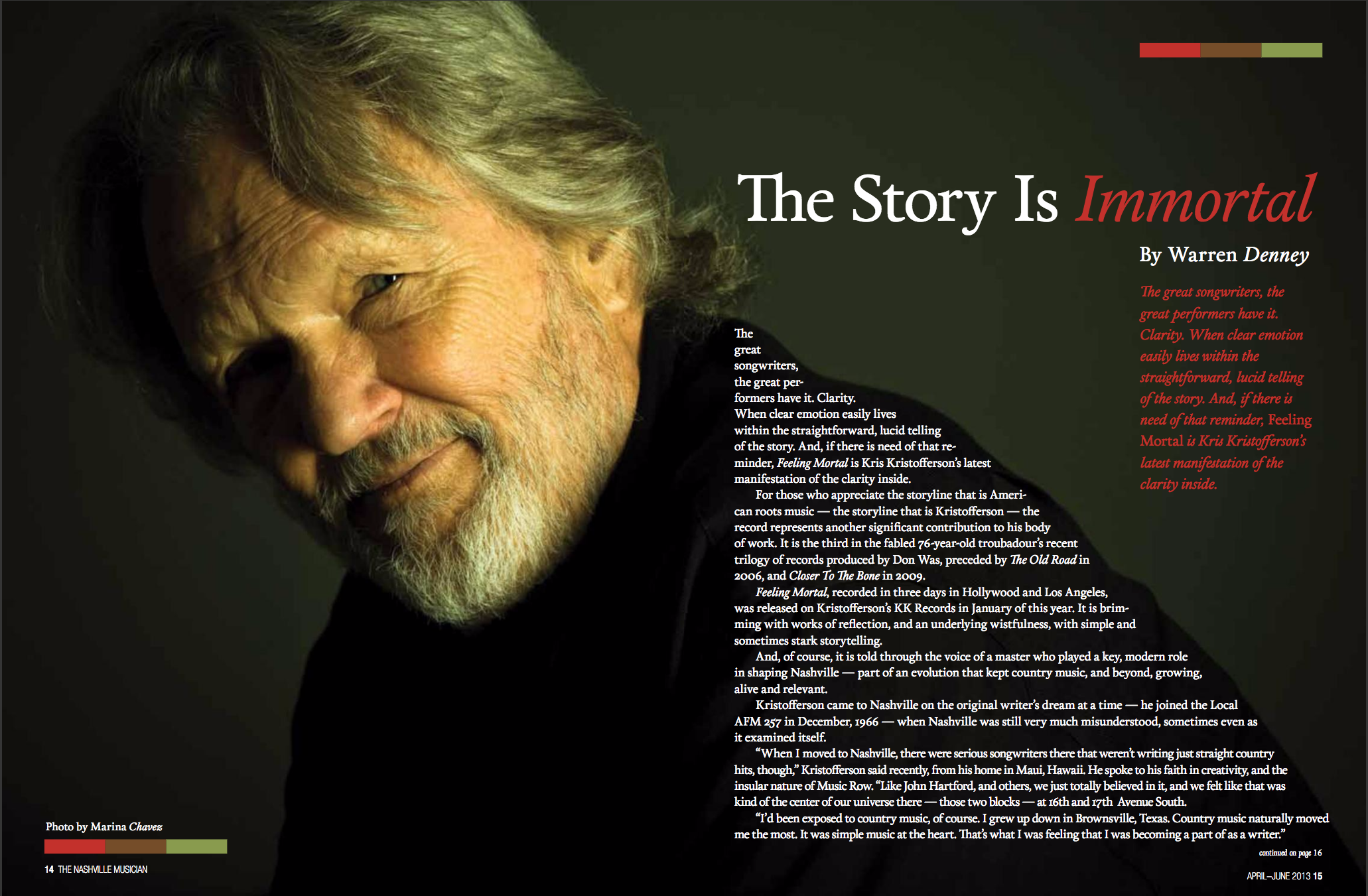 Kris Kristofferson | Lisa Dunn Design
