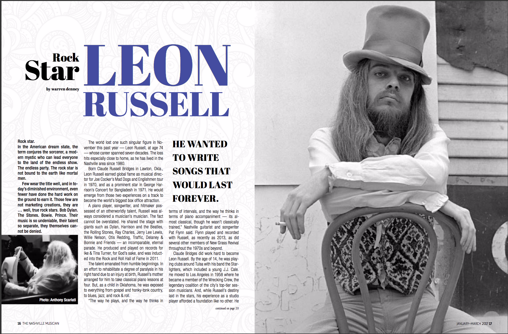 Leon Russell | Lisa Dunn Design