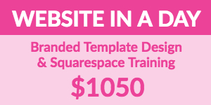 Squarespace Training and Template Design