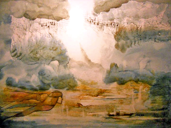 """Painting courtesy of  Ineke Hopgood , a prophetic artist based in Bryon Bay, Australia; inspired by message """"The God of Comfort"""" by Phil Mason"""