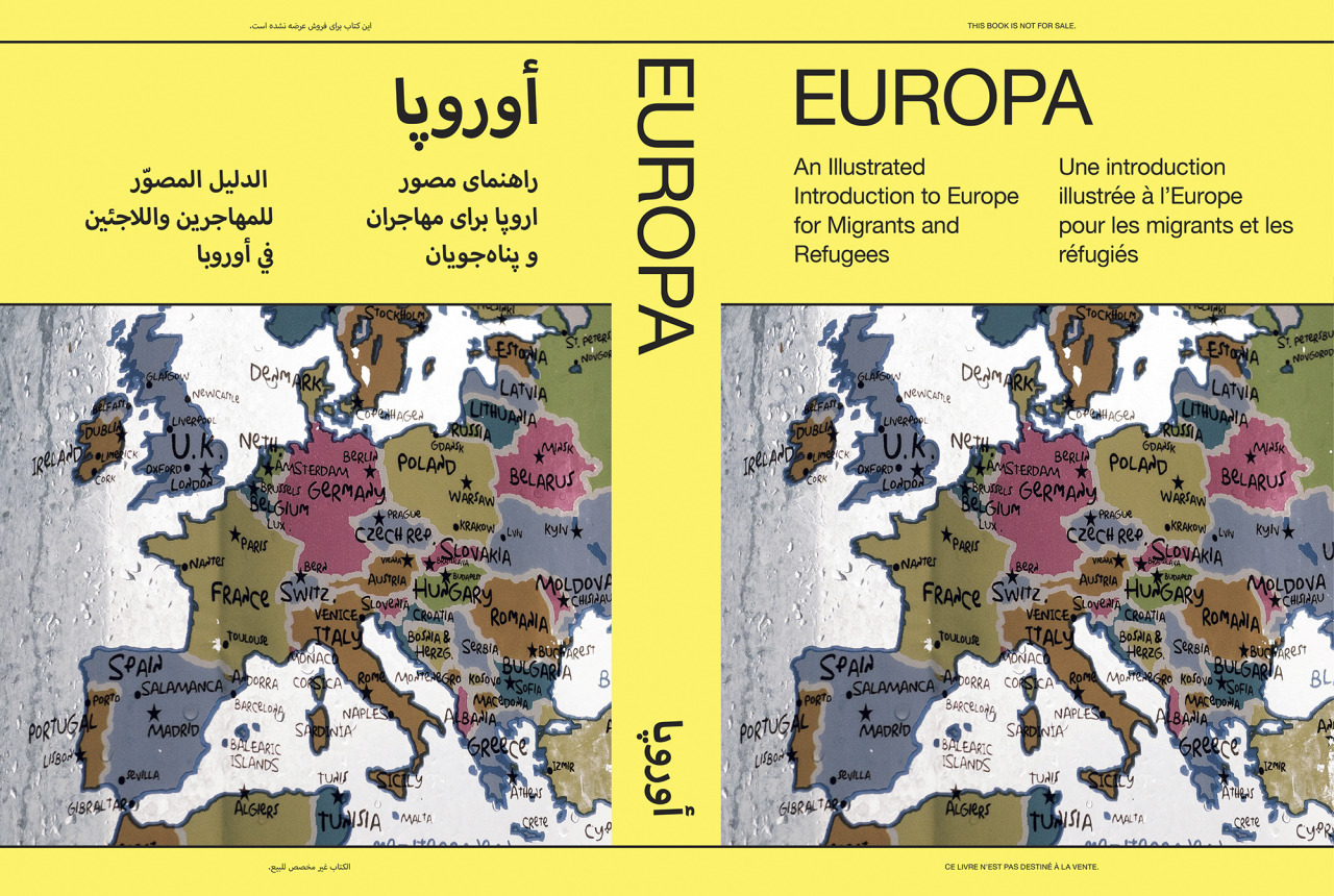"Cover of Thomas Dworzak's ""Europa: An Illustrated Introduction to Europe for Migrants and Refugees."""
