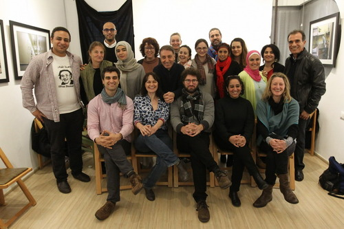 2014 grantees and mentors at the last ADPP workshop in Beirut