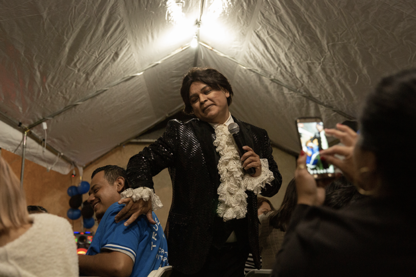 In Los Angeles, migrant communities often hire LGBTQI entertainers in the likeness of famous Latinx artists for backyard parties, weddings, and festivals.