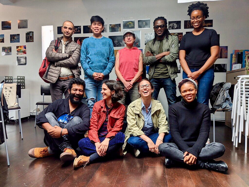 Photography and Social Justice Fellows at the Magnum Foundation office