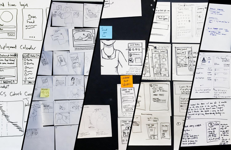 Sketches by collaborators Miranda Hoffman, David Bill, and myself