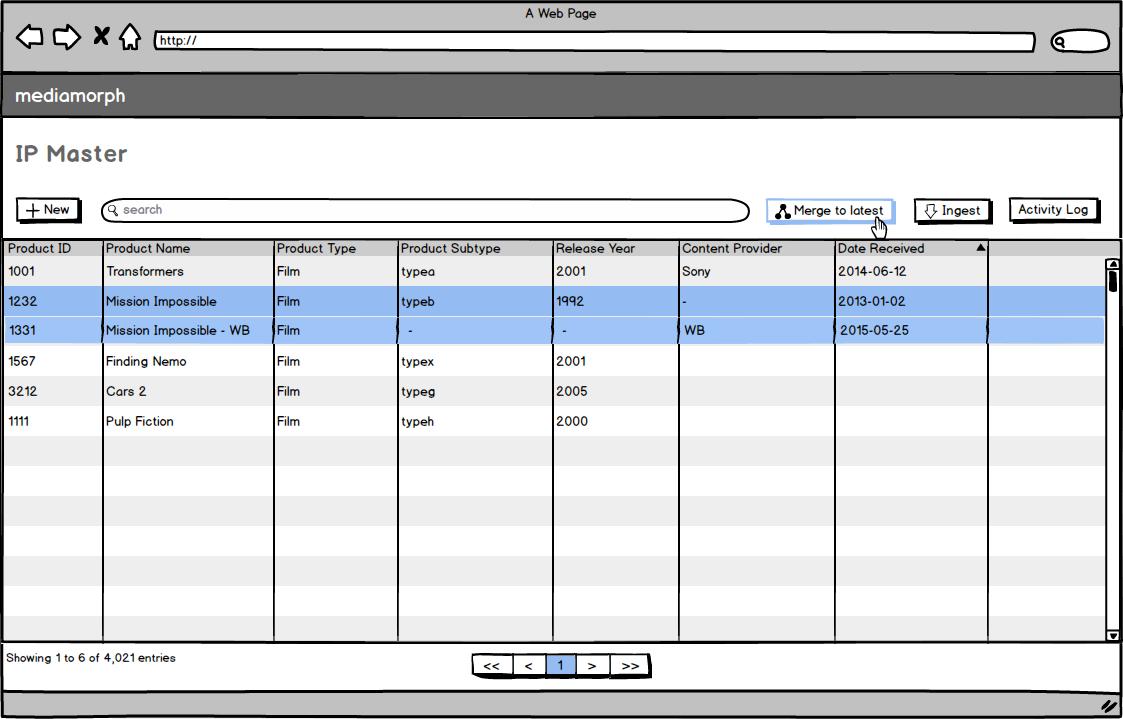 Studio Connect - Merge row data